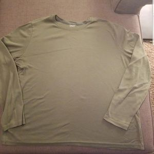 Womens 1x Solid Olive Cherokee Shirt